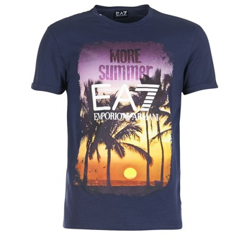 material Men short-sleeved t-shirts Emporio Armani EA7 TRAIN GRAPHIC Blue
