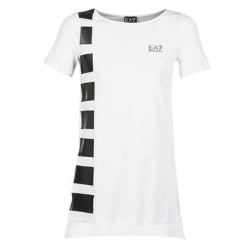 material Women Tunics Emporio Armani EA7 TRAIN MASTER White / Black