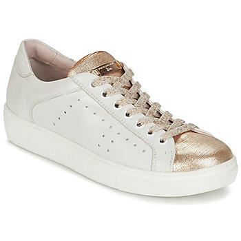 Shoes Women Low top trainers Tosca Blu  White / Gold
