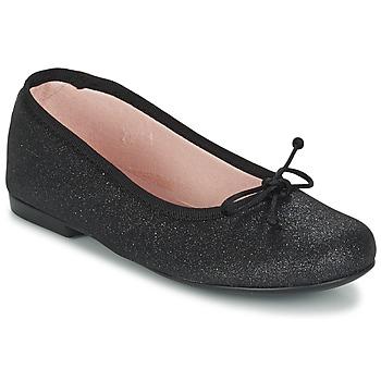 Shoes Girl Ballerinas Citrouille et Compagnie GLIGLO Black / Glitter