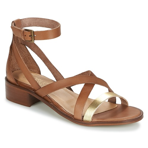 Shoes Women Sandals Casual Attitude COUTIL Camel / Gold
