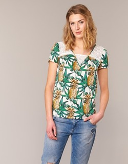 material Women Blouses Naf Naf E-ANANAS White / Green / Yellow