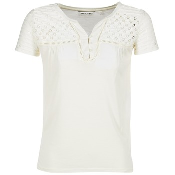 material Women short-sleeved t-shirts Naf Naf OPARI ECRU