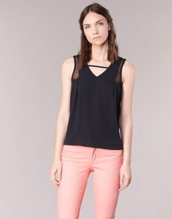 material Women Tops / Sleeveless T-shirts Naf Naf OPIPA Black