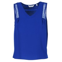 material Women Tops / Sleeveless T-shirts Naf Naf OPIPA Blue