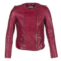 material Women Leather jackets / Imitation leather Naf Naf CRISCA BORDEAUX