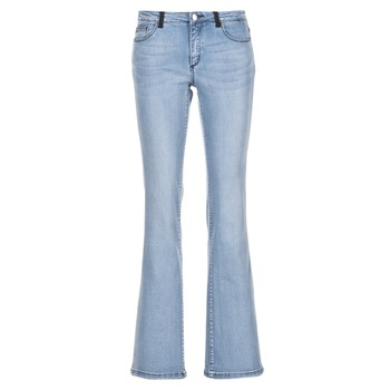 material Women bootcut jeans Naf Naf GALY Blue / Clear