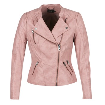 material Women Leather jackets / Imitation leather Only AVA Pink
