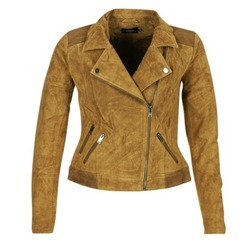 material Women Leather jackets / Imitation leather Only JOSEPHINE COGNAC