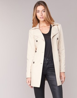 material Women Trench coats Only MARIA LONG BEIGE