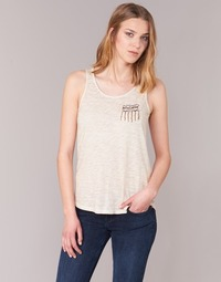 material Women Tops / Sleeveless T-shirts Only VIOLA BEIGE