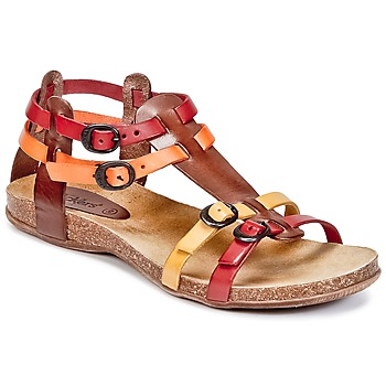 Shoes Women Sandals Kickers ANA Brown / Red / Orange