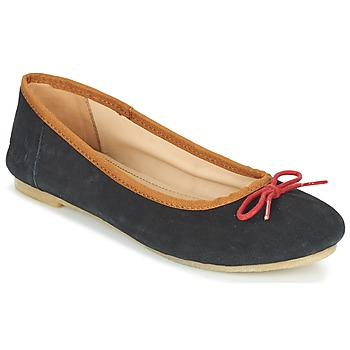 Shoes Women Ballerinas Kickers BAIE Black / Red