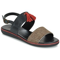 Shoes Women Sandals Kickers HYRO Black / Red