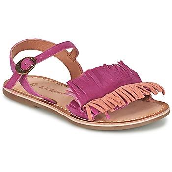 Shoes Girl Sandals Kickers DIXFROUFROU KID Fuschia / Coral
