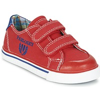 Shoes Boy Low top trainers Pablosky LIVABI Red