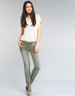 material Women 5-pocket trousers Freeman T.Porter ALEXA SLIM NEW MAGIC COLOR KAKI