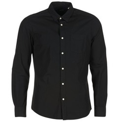 material Men long-sleeved shirts Esprit FOVETTIO Black