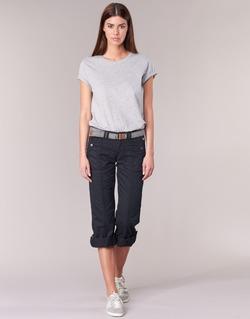 material Women 5-pocket trousers Esprit TURN UP Black