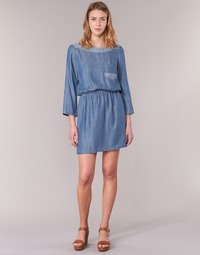 material Women Short Dresses Esprit CHAVIOTA Blue / MEDIUM