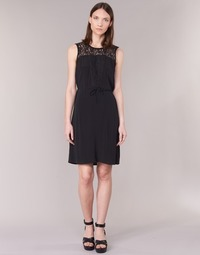 material Women Short Dresses Cream DONA Black