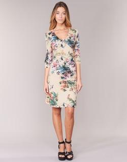 material Women Short Dresses Cream ROSEMARY Multicoloured