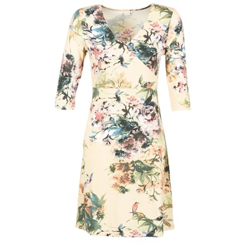 material Women Short Dresses Cream ROSEMARY Multicoloured