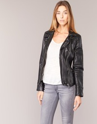 material Women Leather jackets / Imitation leather Oakwood 62065 Black