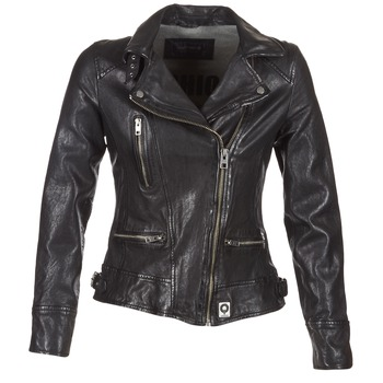 material Women Leather jackets / Imitation leather Oakwood VIDEO Black