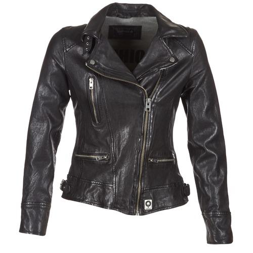 material Women Leather jackets / Imitation leather Oakwood VIDEO Black