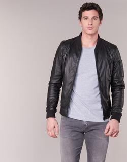 material Men Leather jackets / Imitation leather Oakwood 62354 Black