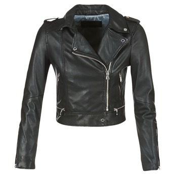 material Women Leather jackets / Imitation leather Oakwood 62326 Black