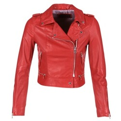 material Women Leather jackets / Imitation leather Oakwood YOKO Red