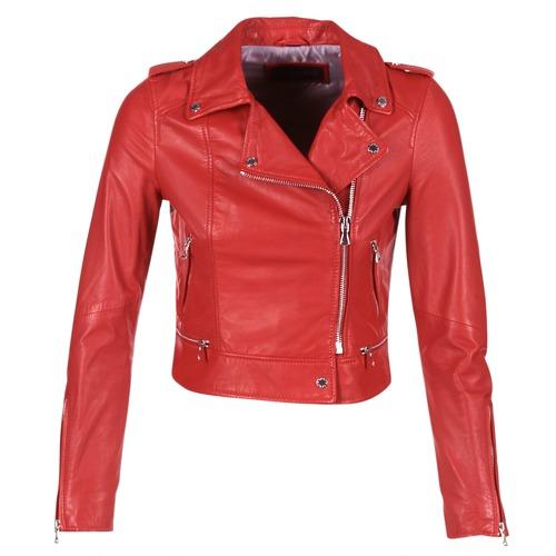 material Women Leather jackets / Imitation leather Oakwood YOKO Red