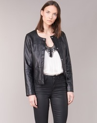 material Women Leather jackets / Imitation leather Oakwood 62254 Black