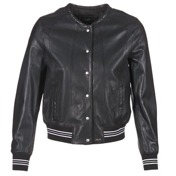 material Women Leather jackets / Imitation leather Oakwood 62298 Black