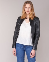 material Women Leather jackets / Imitation leather Oakwood 62316 Black