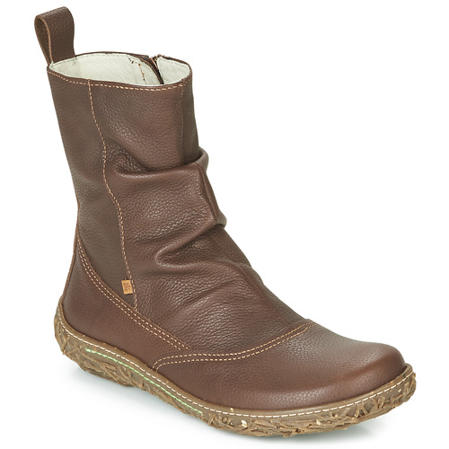 Shoes Women Mid boots El Naturalista NIDO TRAMBU Brown