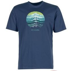 material Men short-sleeved t-shirts Columbia CSC MOUNTAIN SUNSET Blue