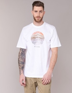 material Men short-sleeved t-shirts Columbia CSC MOUNTAIN SUNSET White