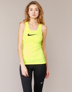 material Women Tops / Sleeveless T-shirts Nike NIKE PRO COOL TANK Yellow