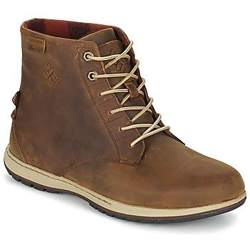 Shoes Men Mid boots Columbia DAVENPORT SIX WATERPROOF LEATHER Elk / Buro