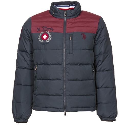 material Men Duffel coats U.S Polo Assn. ST.MORITZ Marine / Bordeaux