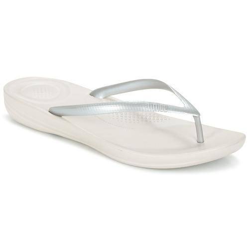 Shoes Women Flip flops FitFlop IQUSHION ERGONOMIC FLIP-FLOPS Glitter / Silver