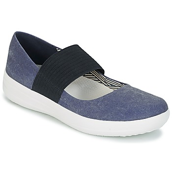 Shoes Women Ballerinas FitFlop FSPORTY MARY JANE CANVAS Midnight / Navy
