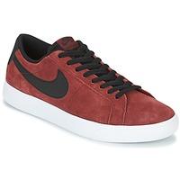 Shoes Men Low top trainers Nike BLAZER VAPOR LOW SB Bordeaux / White