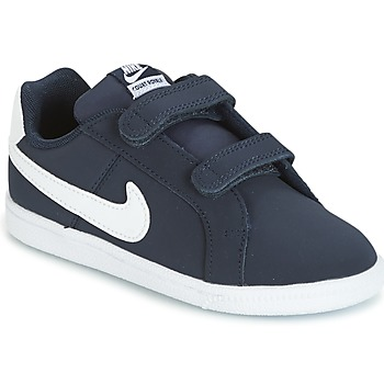 Shoes Boy Low top trainers Nike COURT ROYALE TODDLER Blue / White