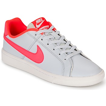 Shoes Girl Low top trainers Nike COURT ROYALE GRADE SCHOOL Grey / Pink