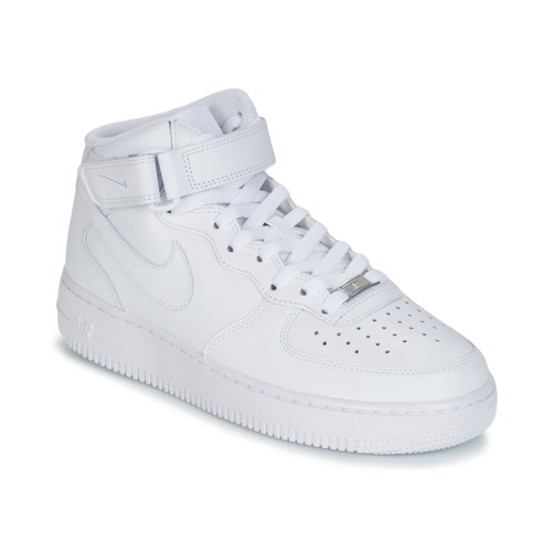 newest 6896a a673c Shoes Men High top trainers Nike AIR FORCE 1 MID 07 LEATHER White