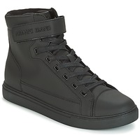 Shoes Men High top trainers Armani jeans JEFEM Black